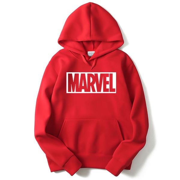 Großhandel Brand New Marvel Brief Gedruckt Schwarz Sweatshirt Männer Hoodies Fashion Solid Hoody Männer Pullover Herren Trainingsanzüge Männlichen