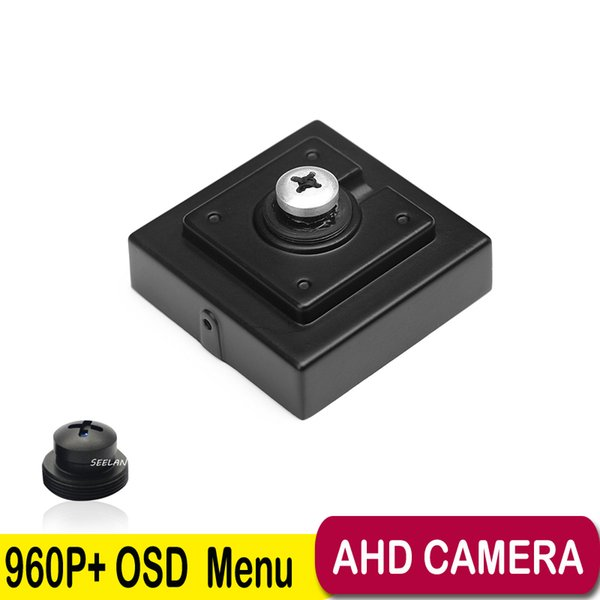 960P Pinhole Mini AHD Camera 3.7mm Pinhole Lens 1.3Megapixel ahd Camera CCTV Pinhole AHD Mini Camera with OSD Button Screw lens