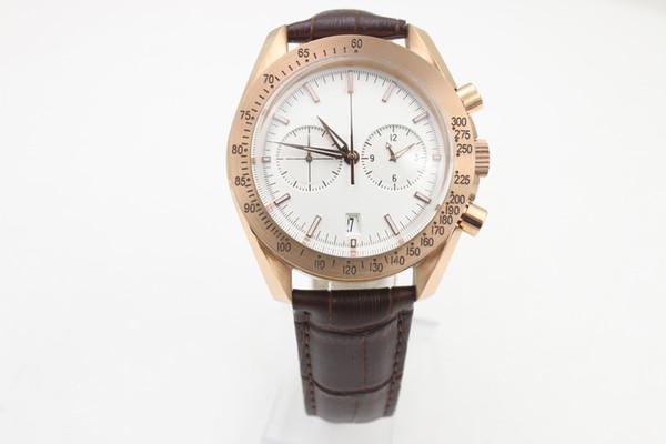 18K Brown-Gurt-Art- und Weisemeer der neuen Tg-Supermänner 57CHRONOGRAP Royal Gentlemen's Gift Watch Kostenlose Lieferung