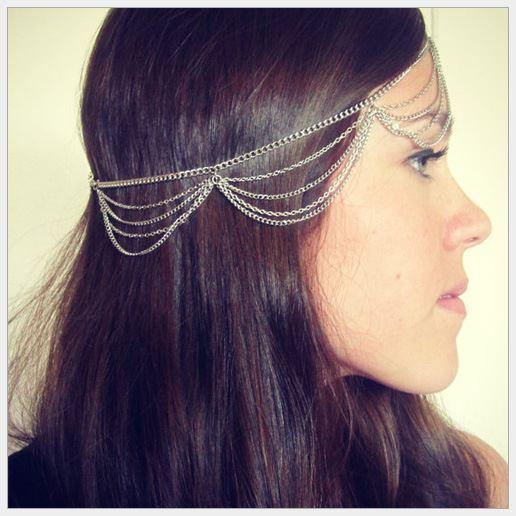 Prata, faixa de cabelo