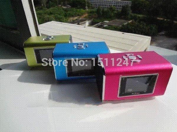 NiZHi TT6 Mini Portable Speaker Digital Sound Box For iphone/SumSung /pc/tablet Mp3 player,With FM radio Alarm Clock Function