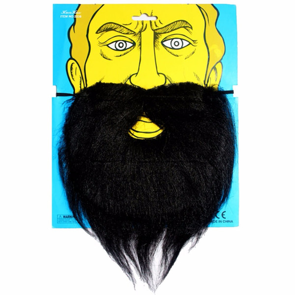 False Moustache Tash Halloween Helmet Pirate Halloween Performance Props Simulation Fake Beard False Black White Bearded Tache