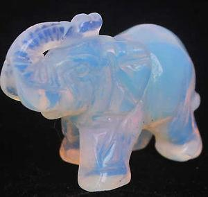 Wholesale Moonstone Hand Carved Elephant statue 50mm