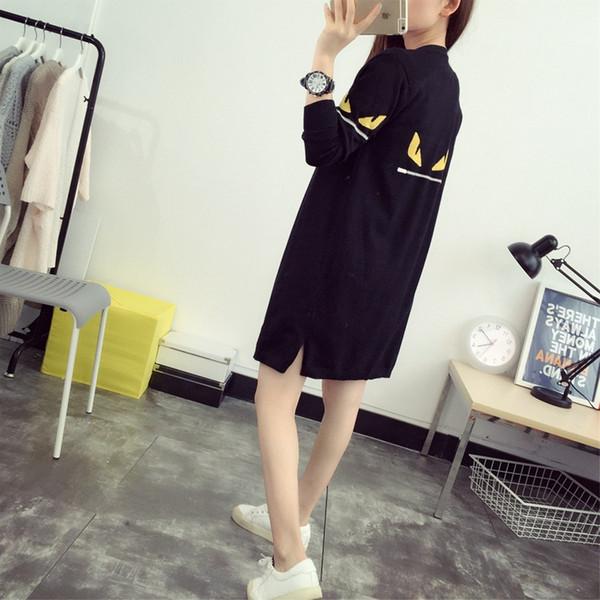Gros-femmes de style coréen monstre yeux modèle long pull laine décontractée mélanges tricotés cardigans noirs lâches poncho cape chandails 916