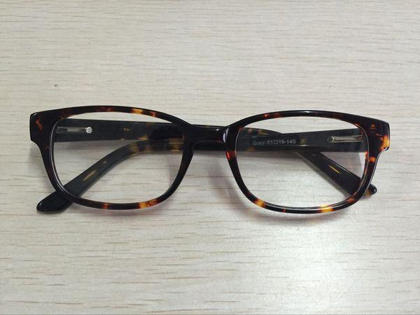 top popular High Quality Vintage Glasses Frame For Men Women Acetate Square Prescription Optical Eyeglasses 2019