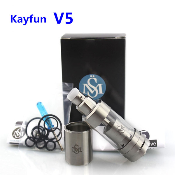 Newest Kayfun V5 RTA Atomizer 316 Stainless Steel Top Filling Kayfun 5 Tank Clone Kayfun V3 Mini V4 KF V6 for 510 Thread Box Mods DHL