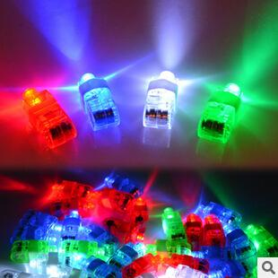 Best Birthday Gift Freeshipping Halloween Gift, Finger Flashlights, LED Finger Light Beams Ring Torch For Party M094