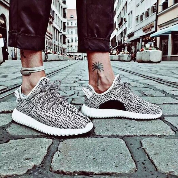 2016 Kanye Bottes Kanye Ultra Basse Bottes Chaussures Tortue Dove Sneakers Taille 12 Boîte Streetwear Chaussures De Sport Livraison Gratuite