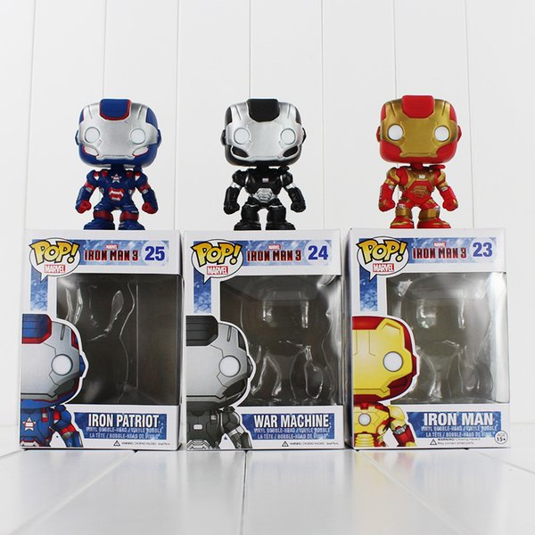 FUNKO POP Avengers Iron Man PVC Action Figure Collection Toy Doll 9.5cm 3 style you can choose Free Shipping