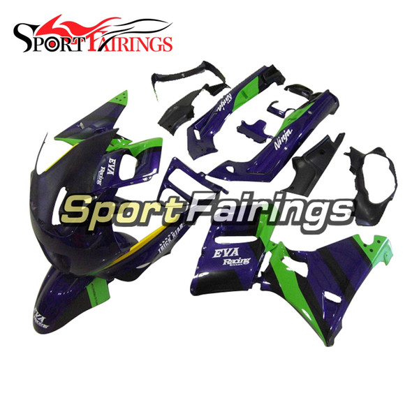 Purple Green Hulls New Fairings For Kawasaki ZZR600 ZZR-400 93 94 95 96 97 ABS Plastics Motorcycle Fairing Kit Bodywork Cowlings Injection