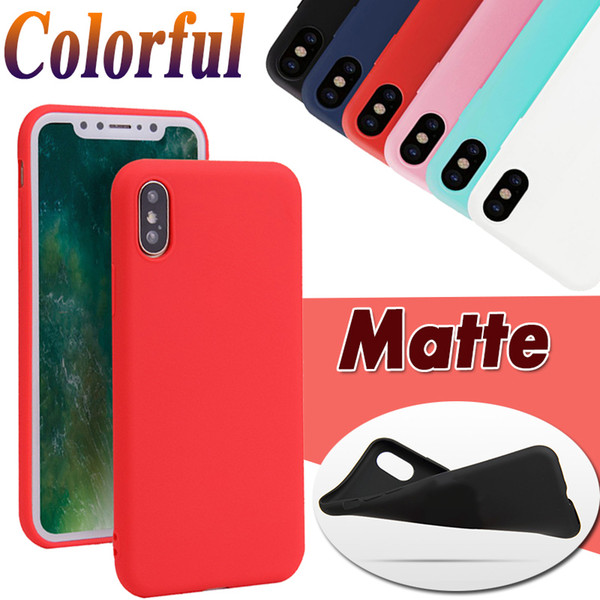 Candy color ultra lim matte fro ted oft tpu gel ilicone rubber cover ca e for iphone 11 pro max x xr x 8 7 6 6 plu 5 5 anti knock