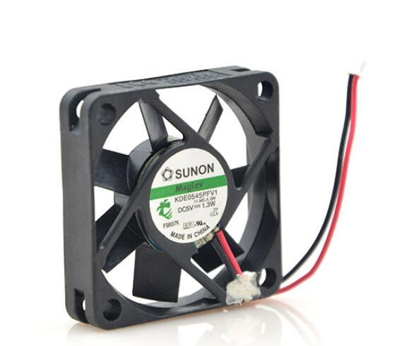 Original SUNON 4510 KDE0545PFV1 45*45*10MM 5V 1.3W 4.5CM 2 wire silent notebook cooling fan