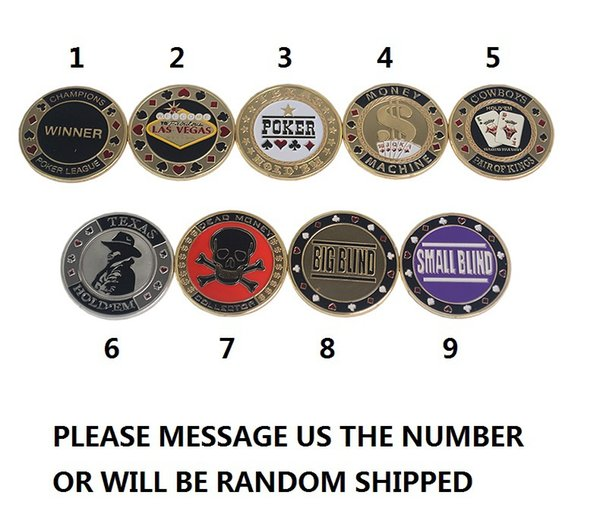 Metal poker chips huazhung red skull personality metal bargaining chip village code village code dealer game party IVU