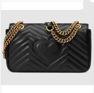 vendita calda Borsa donna di lusso Classic Pelle nera catena d'oro donne borse borse a tracolla borse a tracolla messenger