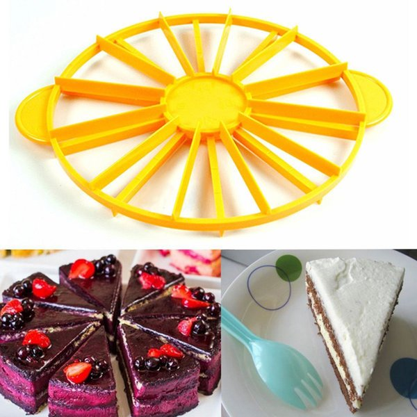 New Hot Pie Cake 10 / 12 Piece Slicer Equal Cake Portion Marker Divider Cutter Birthday Party Accessories