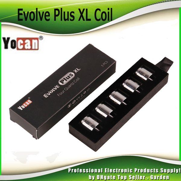 best selling Authentic Yocan Evolve Plus XL Wax QUAD Coil Quatz Rod Replacemen Coils Head With Coil Cap For Evolve Plus XL Pen Kit 100% Genuine