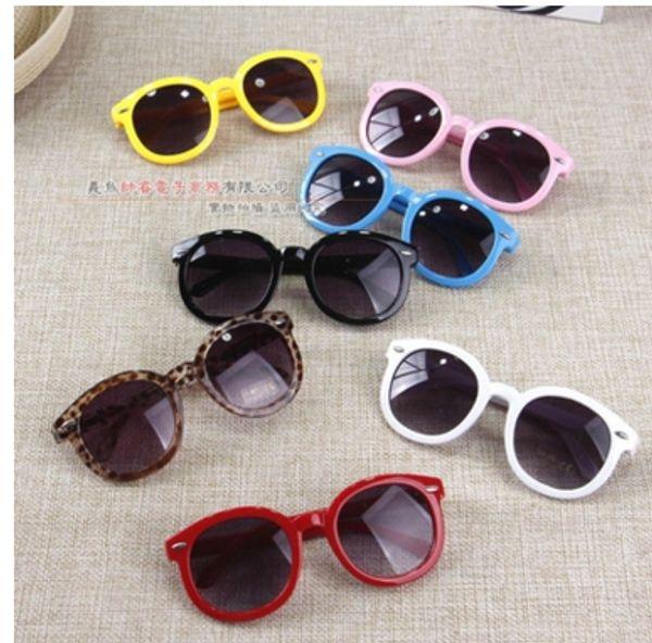 2017 Vintage Round Sun Glasses Children Arrow Glass Baby Boys Girls Kids Sunglasses Summer Goggles Oculos De Sol Gafas