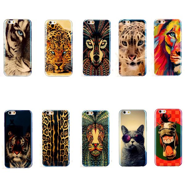 custodia silicone leopardo iphone 6 plus