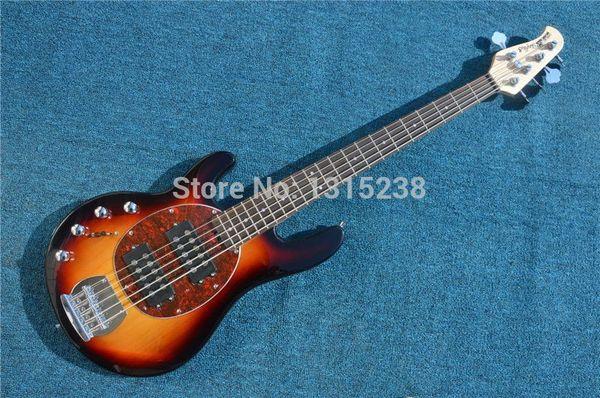 Free Shipping New guitarraOEM electric guitar bass guitar shop multicolor left hand five string guitarra / guitar China