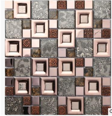 Compre El Fondo De Mosaico De Azulejos De La Pared Interior Moderna Europea Color Mosaico Arte Decorativo Pegatinas Café Al Por Mayor A 50252 Del