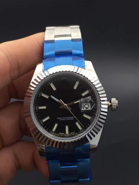 NEW Luxury Brand watches 41 mm Datejust 126334 Stainless Steel Sapphire Glass Black Dial Asia 2813 Automatic Excellent Men's Watch