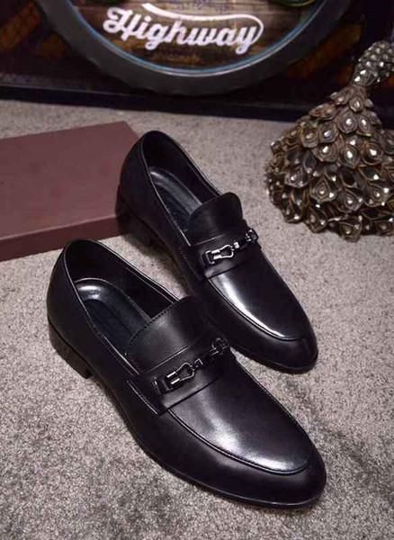2018 Yeni Moda erkek Casual Loafer'lar Hakiki Deri Slip-on Elbise Ayakkabı El Yapımı Sigara Terlik Erkekler Flats Düğün Parti Ayakkabı EUR38-44