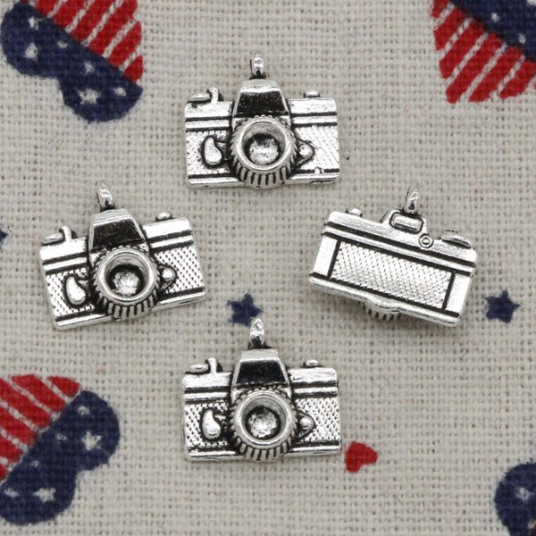 113pcs Charms camera 15*14mm Antique Silver/Bronze Pendant Zinc Alloy Jewelry DIY Hand Made Bracelet Necklace Fitting