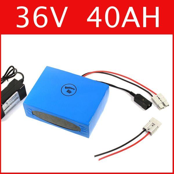 Batería de litio 36V 40AH Batería de ion de litio de la batería del poder más 42V + Cargador + BMS, paquete de bicicleta eléctrica