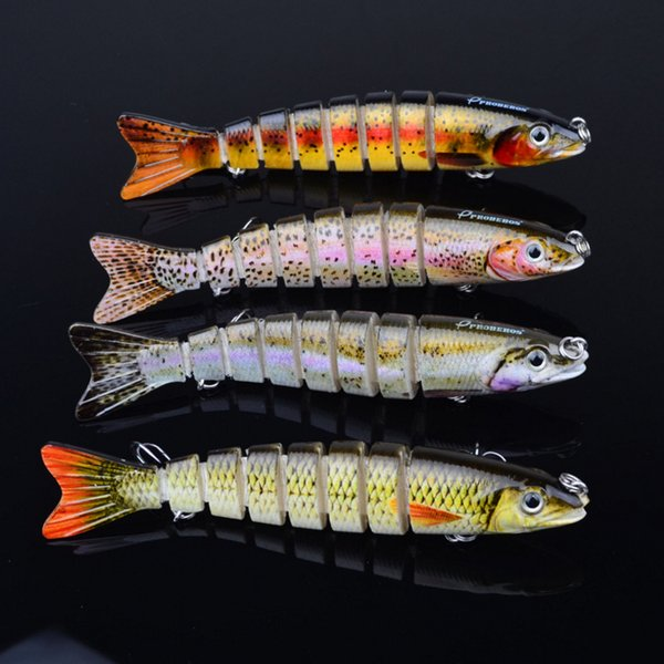 top popular 12.3cm 17g Multi Jointed Bass Plastic Fishing Lures Swimbait Sink Hooks Tackle high quality fishing lures 2020