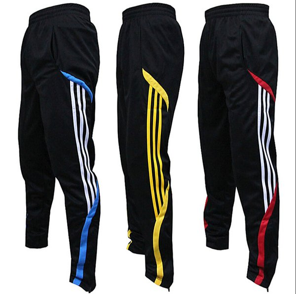 top popular high quality football pants male sports pants closed leg pants feet pants riding pants running fitness training pants summer thin section 2019