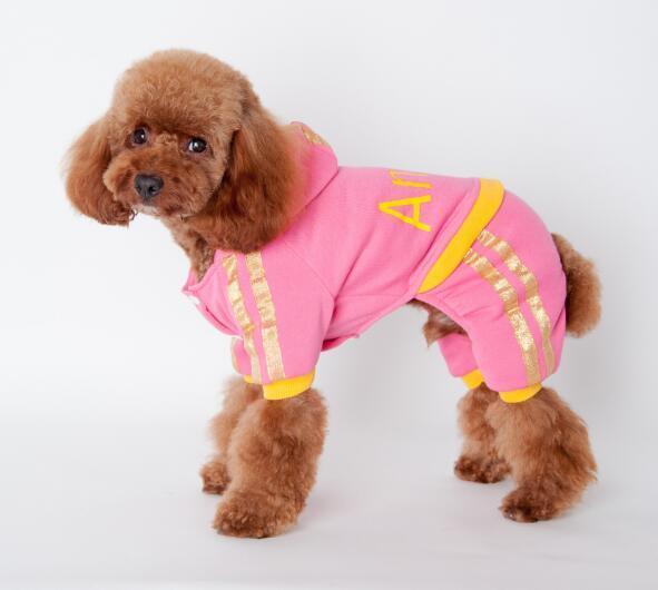 Hot sales Dog Apparel dog clothes cotton warm winter warm small dog clothes puppy dog clothes Angel letter 2 colors