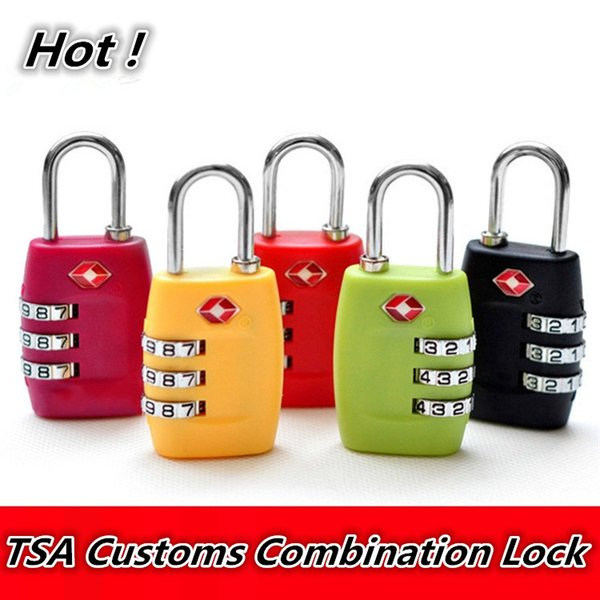 New TSA Travel bags lock Digit Plastic Alloy Lock Password Customs Luggage Padlock Combination Suitcase Padlock Luggage Travel Lock 2151