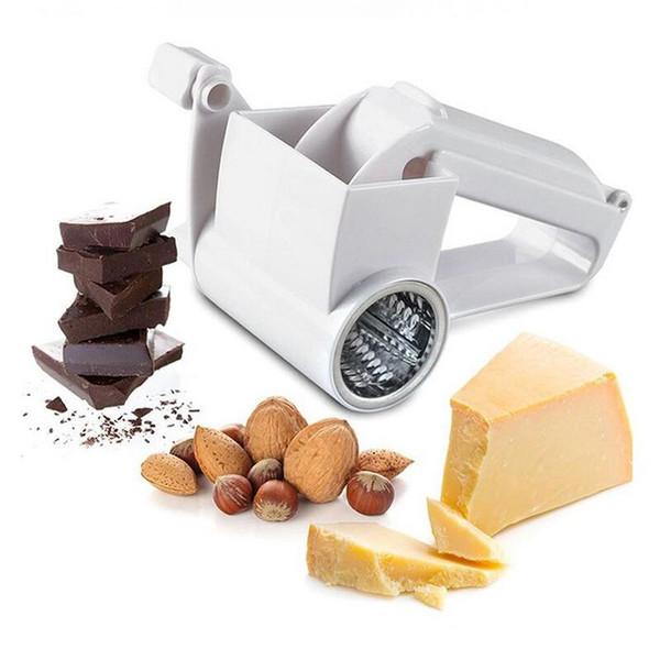 Rotary Cheese Râpe Chocolat Nuts Shredder Sharp En Acier Inoxydable Tambours Rasoir Trancheuse De Poche à Fromage Coupeur De Fromage Livraison Gratuite