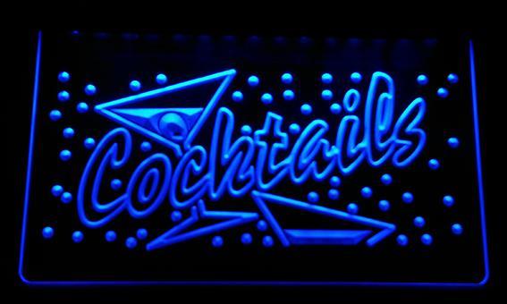 LS128-b Cocktails Bar Pub Club Neon Light Sign