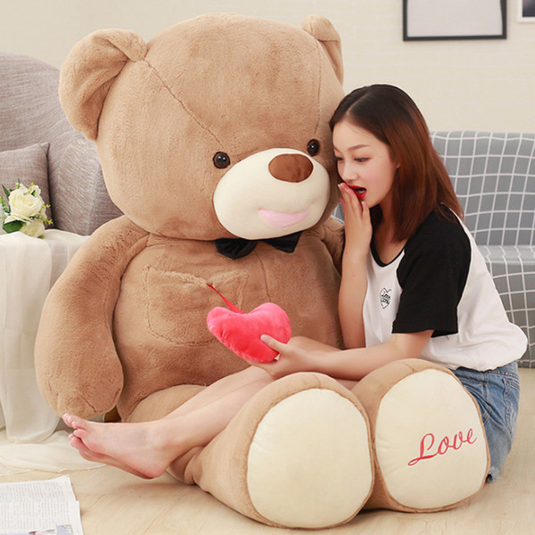 Giant Give You My Heart Teddy Bear Plush Toys Big Stuffed Soft Animals Bears Pillow Doll I Love You Gift for Valentine