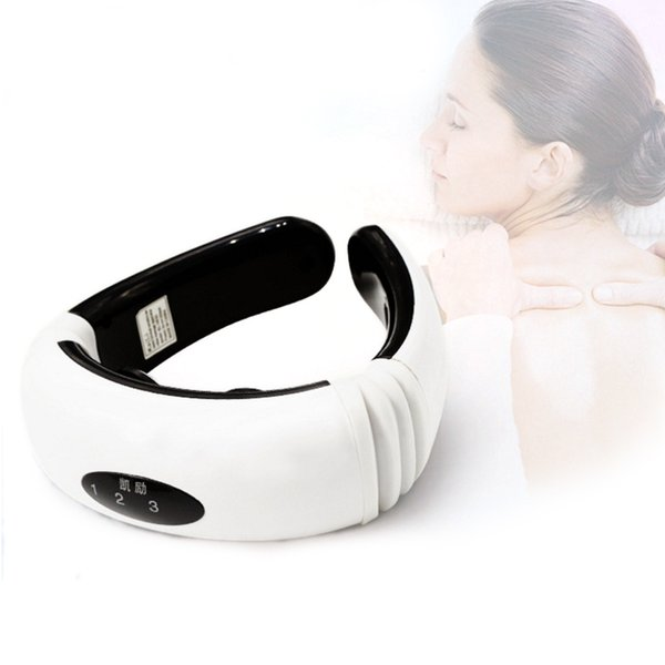 Electric Pulse Back and Neck Massager Cervical Vertebra Treatment Instrument. Acupuncture Magnetic Therapy Neck Pillow Massager 0602041