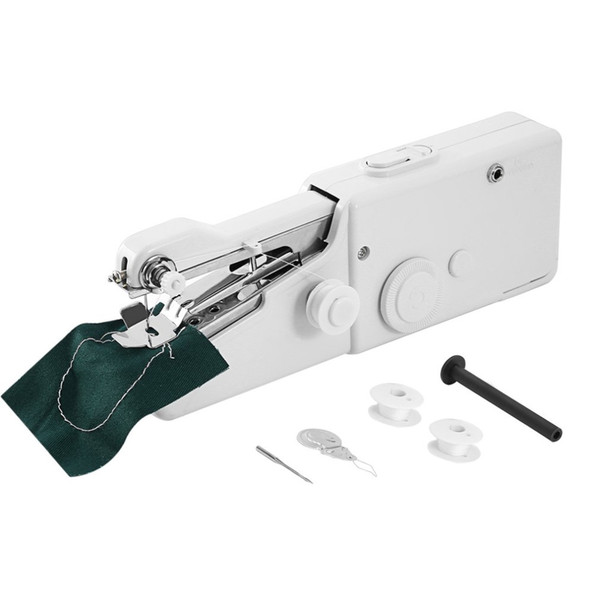 1PC Mini Portable Electric Handheld Sewing Machine Stitch Set Household Clothes Fabric Handheld Sewing Tool 210*70*35mm Home Textile