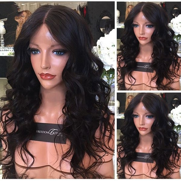 8A Peruvian Virgin Hair 4x4 Silk Top Full Lace Wigs Body Wave Wavy Silk Base Lace Front Human Hair Wigs For Black Women