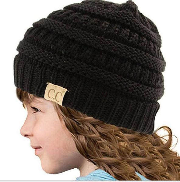 Compre Moda Bebé Esquí Sombreros Gorro Cc Trendy Ganchillo Hilado ...