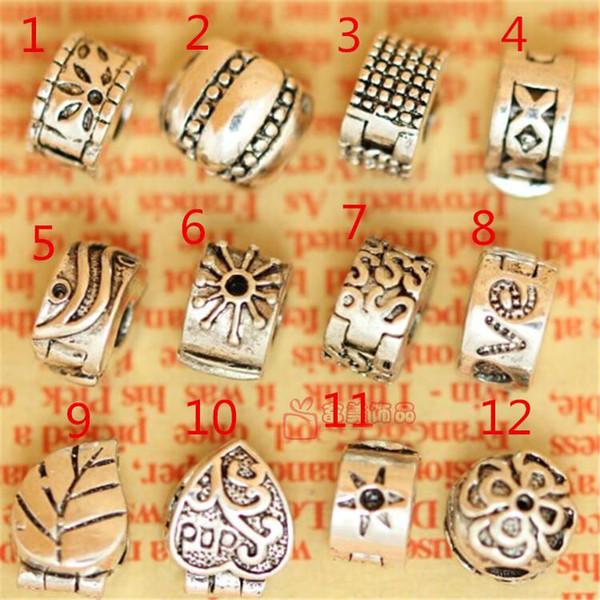 DIY Tibet gümüş kaplama stoper boncuk fit bilezik kolye zinciri