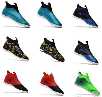 ACE Tango 17+ Purecontrol TF indoor soccer cleats turf IN soccer shoes ACE Football boots Dragon Laceless boots Gold