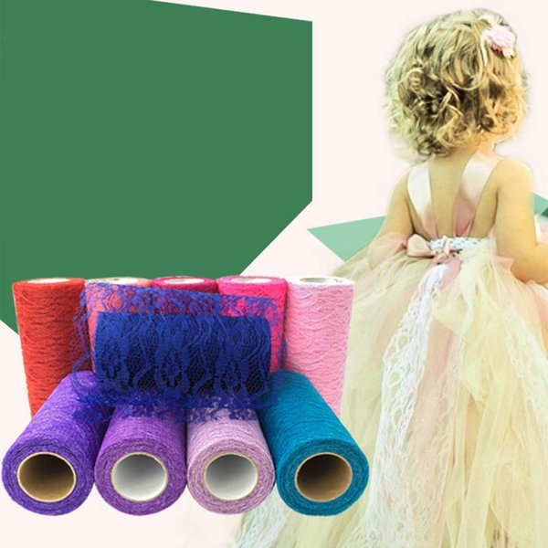 lace Roll Spool Fabric Ribbon Bolt DIY Tutu Skirt Gift Craft Party chair sash Bow table runner Wedding Party Decoration favor