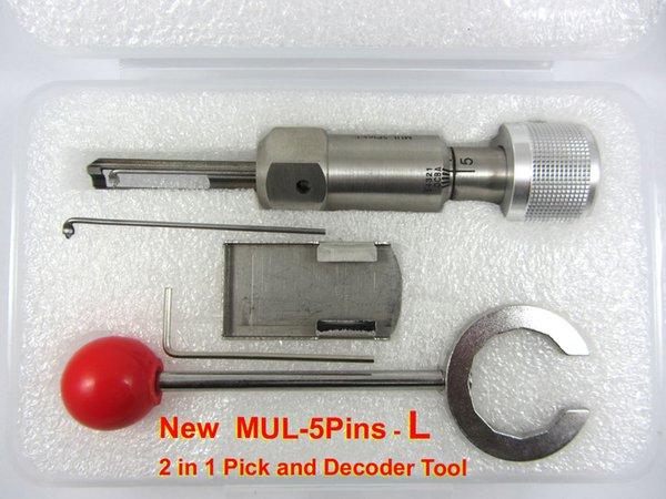 HH Nuovo MUL-T-LOCK 5 Pin (R o L) decoder e pick tool fabbro tool lockpick spedizione gratuita