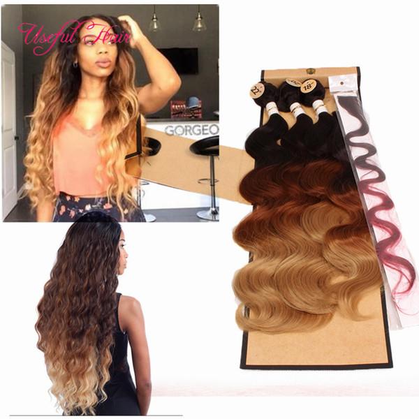 ЦВЕТ OMBRE Плетение волос на объемной волне 4 шт. / Лот = одна головная машинная двойная уточная связка с кружевной застежкой, вшитая в наращивание волос плетением закрывающая утка