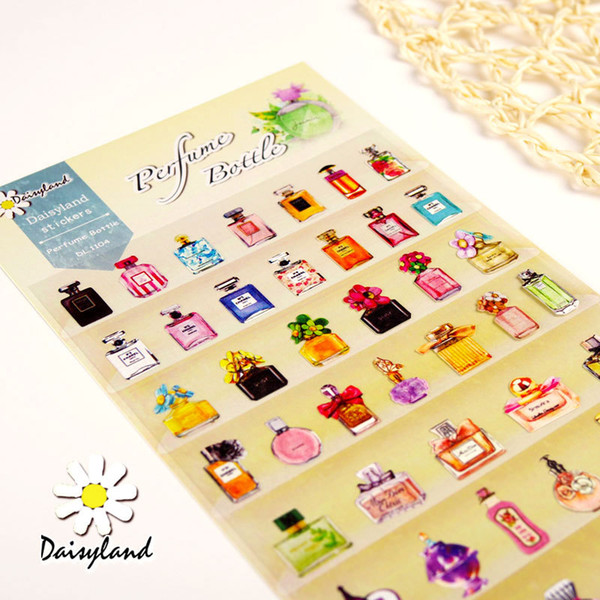Wholesale sticker south korea stationery daisyland perfume bottles 1104 children print cartoon albums small stickers