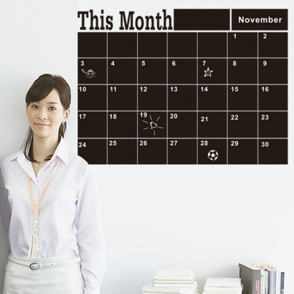 """2016 DIY Removable This Month Blackboard Wall Stickers PVC Waterproof Wall Decor Baby Room Office Decorations Wallpaper 16.9x22.8"""""""