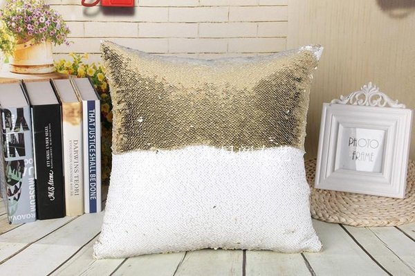 Remarkable Mermaid Pillow Case Two Tone Rainbow Magic Ariel Cushion Cover Sequins Bling Paillette Car Sofa Cushion Cover Christmas Gifts Pillowcase New Sunbrella Machost Co Dining Chair Design Ideas Machostcouk
