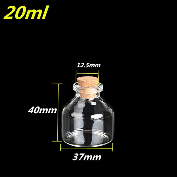 12 шт. 37x40x12.5 мм желая бутылки мини стеклянные бутылки с пробковой пробкой прозрачного стекла флаконы очарование DIY стеклянные банки контейнеры