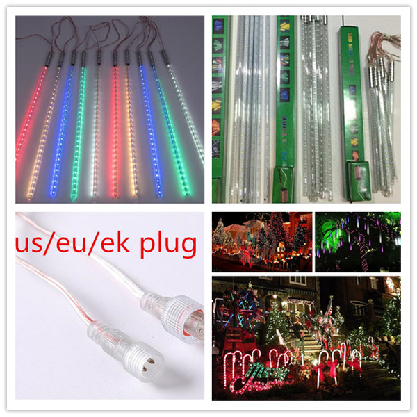 500000 H 8w 10 PCS/SET 2835 patch Meteor shower Tubes LED Mini Meteor Lights LED Strings Holiday Light LED Christmas Light Garden Decoration