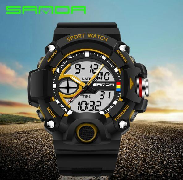 Brand sanda Student Sports Electronic Watch Men's Teens Multifunctional Outdoor Watch Wrist Watch